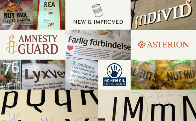 Hattenbach's custom made typography