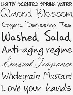 Handwriting Fontpack sample