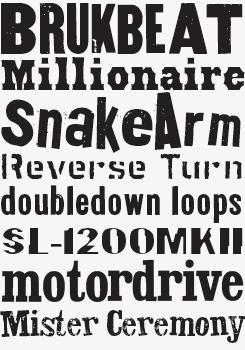 Letterpress Pack font sample
