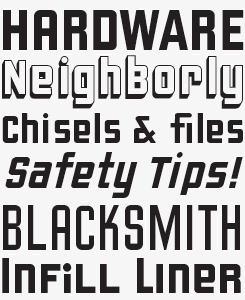 Liquorstore font sample