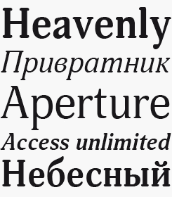 Adonis font sample