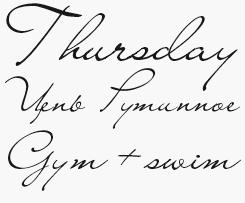 Liana font sample