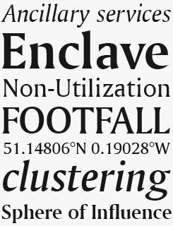 Amerigo font sample