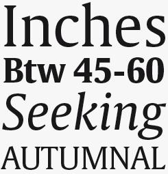 Gulliver font sample