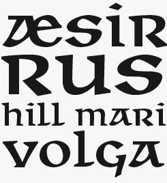 Walhalla font sample