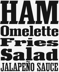 Eknaton font sample