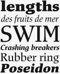 Mixtra Slabserif font sample