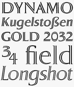 Sergel font sample
