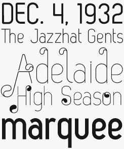 Zag font sample