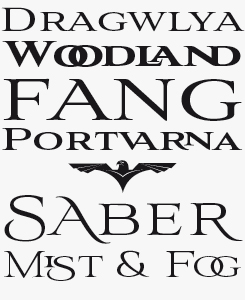 Aviano font sample