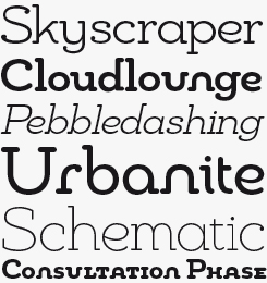 Chennai Slab font sample