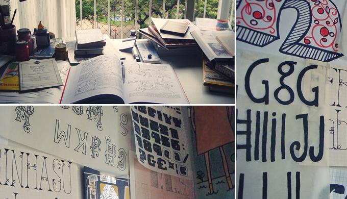 Behind the scenes at Pintassilgo's studio