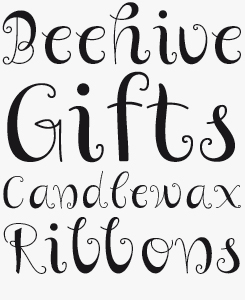 Curly font sample