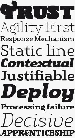 Gingar font sample
