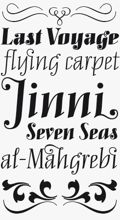 Mary Read Italic font sample