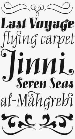 Mary Read Italic font sample