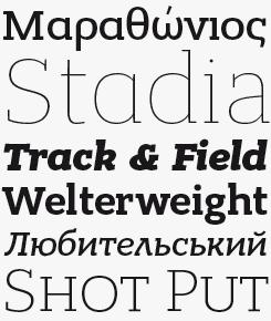 Bandera Pro font sample