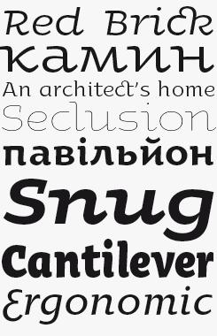 Oksana font sample