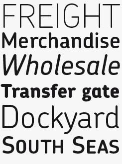 Chevin Pro font sample