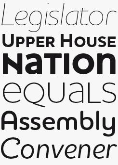 Houschka Pro font sample