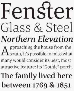 Corda font sample