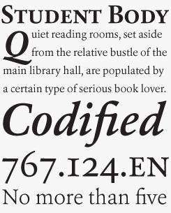 Erato font sample