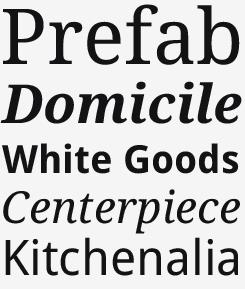 Droid Serif and Sans font samples