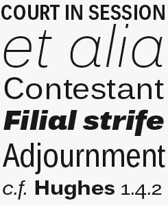 Endurance Pro font sample