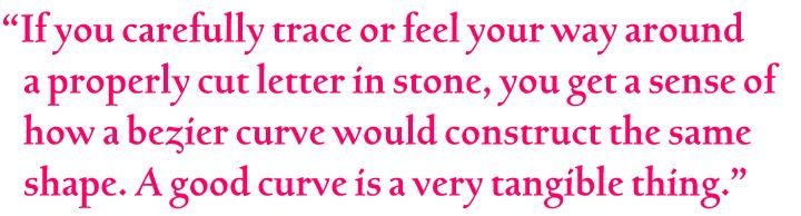Pull-quote set in Bertham
