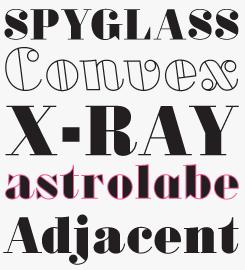 Oban font sample
