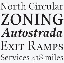 Union font sample