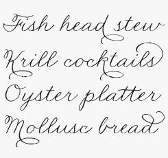 Madelinette font sample