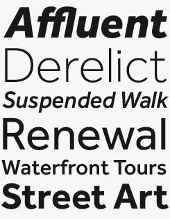 Effra font sample
