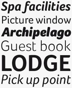 Foco font sample