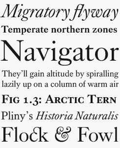 Kings Caslon font sample