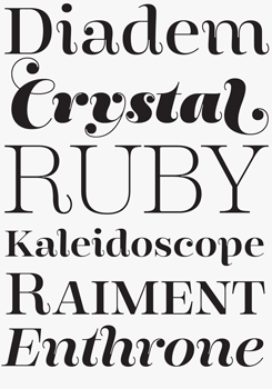 Encorpada font sample