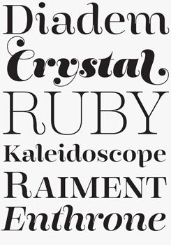 Encorpada font sample