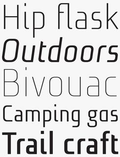 Niks font sample
