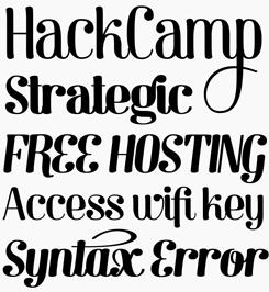 Barber font sample