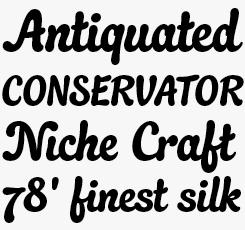 Quayside font sample