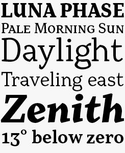 Range Serif font sample