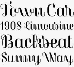 Magasin font sample