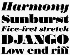 Poster font sample