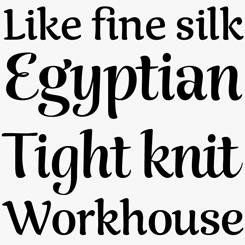 Rumba font sample