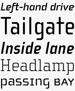 Cholla font sample