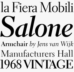 Electra font sample