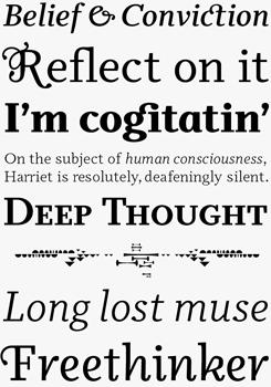 Odile font sample