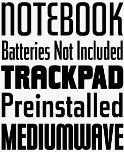 Tasse font sample