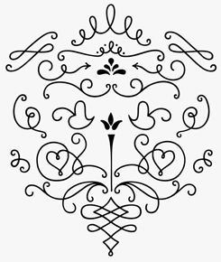 LiebeOrnaments font sample