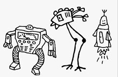 LiebeRobots font sample